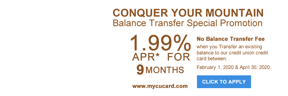 Essex CU Credit Card balance transfer special promotion